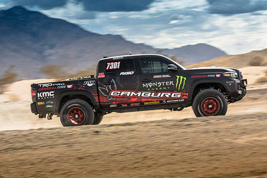 Toyota Vehicles At the 2016 SEMA Show - Tacoma TRD Pro Race and Land Speed Cruiser