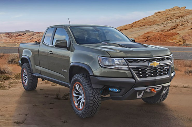 Chevrolet Colorado ZR2 Concept, featuring the 2.8L Duramax Turbo Diesel.  Taking off-roading to the next level.