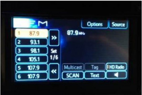Toyota Tacoma Abnormal Radio Preset Display – TSB