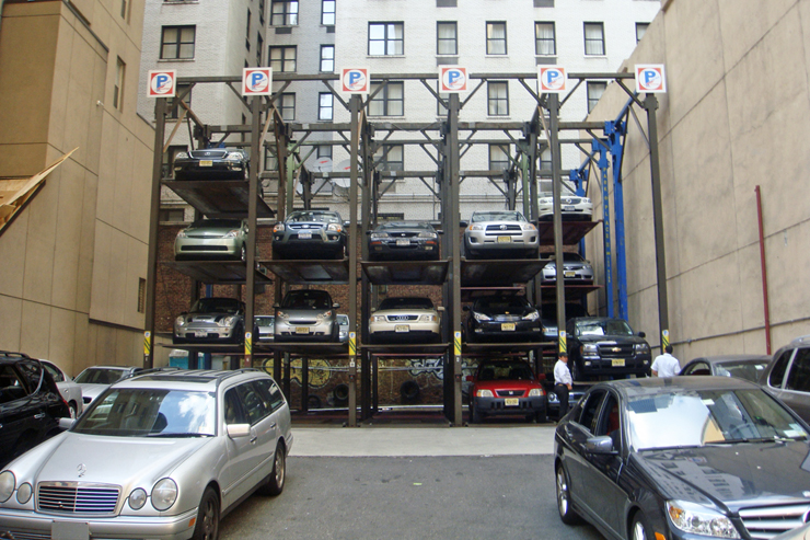 """Many parking lots in Manhattan have started using a multi-level system to increase capacity. This may not look like """"truck"""" country, the need for a truck exists. Albeit a smaller one like a Scion or Tacoma."""