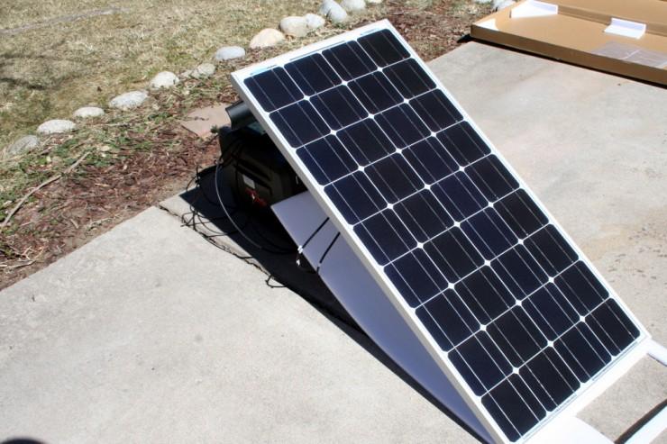 Solar charging setup