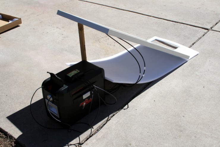 Solar energy system for camping