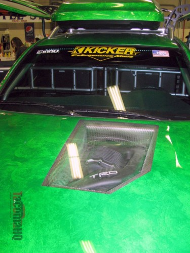 Gamer Tacoma clear hood