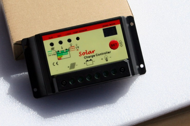 Included solar charge controller