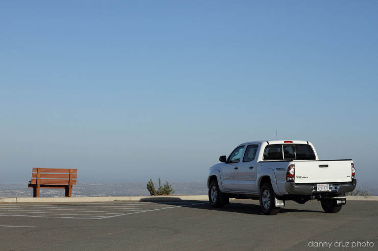 Tacoma parked on ocean overlook