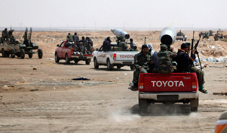 Syrian Rebels Request Toyota Hilux Pickups