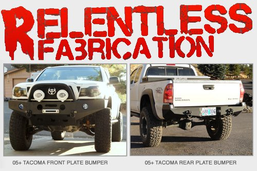 Relentless Fabrication steel Tacoma bumpers