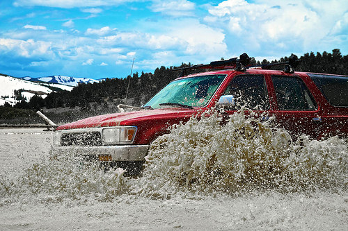 4Runner river crossing