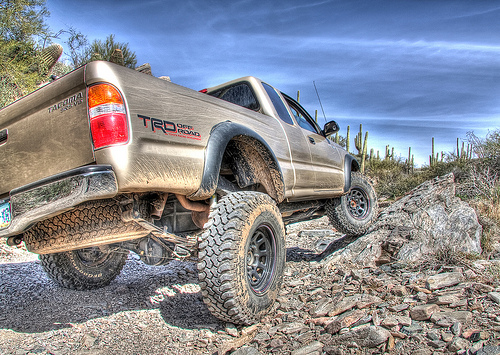 Tacoma driving off-road