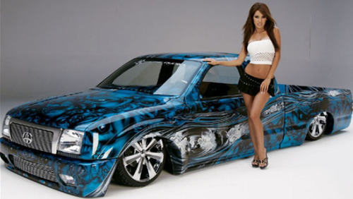 1999 Toyota Tacoma Airbrushed Low Rider – Featured Truck