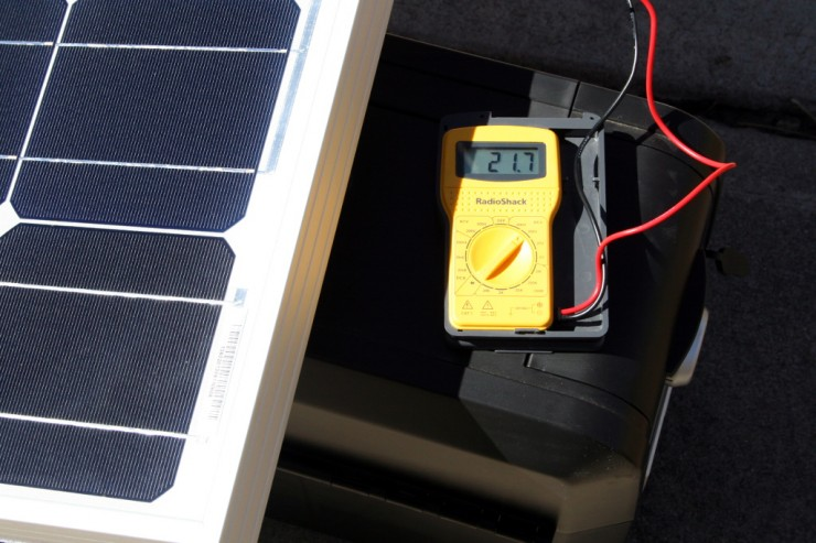 Observed panel output voltage