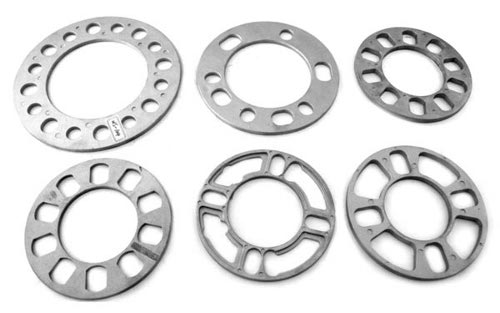 Washer type wheel spacers